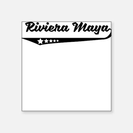 Riviera Maya Mexico Retro Logo Sticker