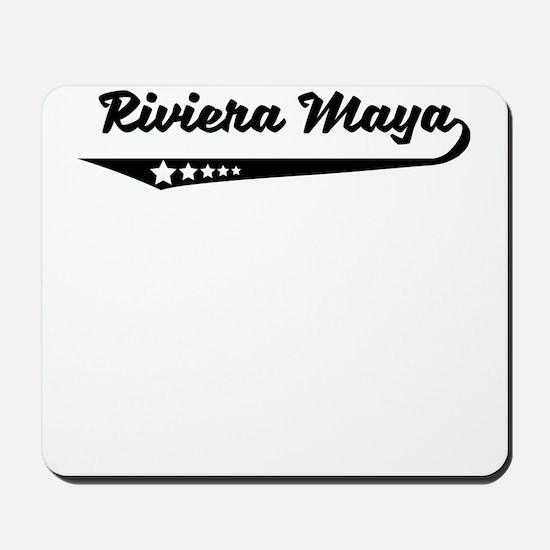 Riviera Maya Mexico Retro Logo Mousepad