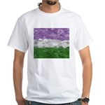 Genderqueer Paint Splatter Flag White T-Shirt