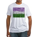 Genderqueer Paint Splatter Flag Fitted T-Shirt