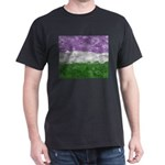 Genderqueer Paint Splatter Flag Dark T-Shirt