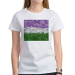 Genderqueer Paint Splatter Flag Women's T-Shirt