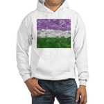 Genderqueer Paint Splatter Flag Hooded Sweatshirt