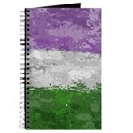 Genderqueer Paint Splatter Flag Journal