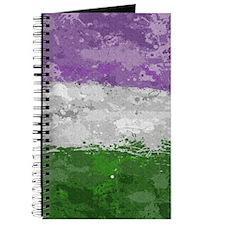 Genderqueer Paint Splatter Flag Journal