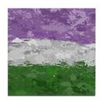 Genderqueer Paint Splatter Flag Tile Coaster