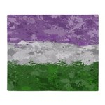 Genderqueer Paint Splatter Flag Throw Blanket