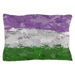 Genderqueer Paint Splatter Flag Pillow Case