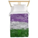 Genderqueer Paint Splatter Flag Twin Duvet