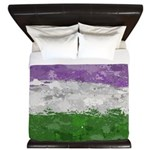 Genderqueer Paint Splatter Flag King Duvet