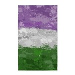 Genderqueer Paint Splatter Flag Area Rug