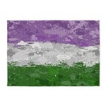 Genderqueer Paint Splatter Flag 5'x7'Area Rug