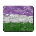 Genderqueer Paint Splatter Flag Mousepad