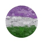 Genderqueer Paint Splatter Flag Button