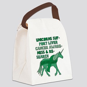Unicorns Support Liver Cancer Awa Canvas Lunch Bag