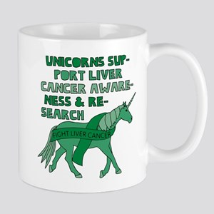 Unicorns Support Liver Cancer Awareness Mugs