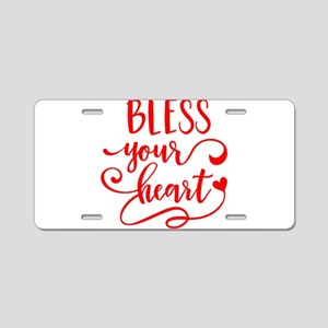 BLESS YOUR HEART -2 Aluminum License Plate