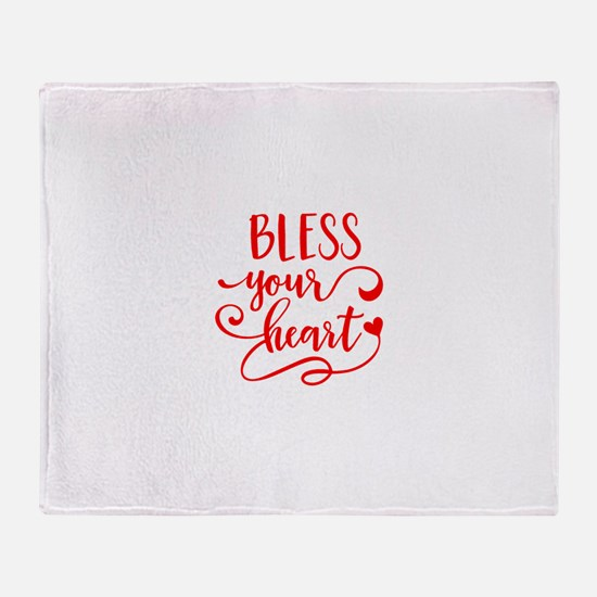 BLESS YOUR HEART -2 Throw Blanket