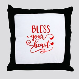 BLESS YOUR HEART -2 Throw Pillow