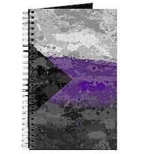 Demisexual Paint Splatter Flag Journal