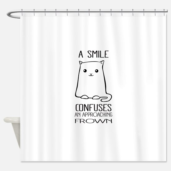 Cute Cat Meme Shower Curtain