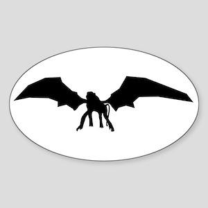 Flying Monkey Oval Sticker