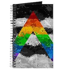 LGBT Ally Paint Splatter Flag Journal