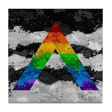 LGBT Ally Paint Splatter Flag Tile Coaster