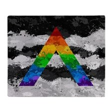 LGBT Ally Paint Splatter Flag Throw Blanket