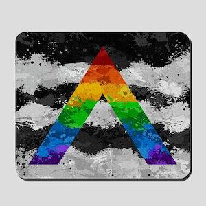 LGBT Ally Paint Splatter Flag Mousepad