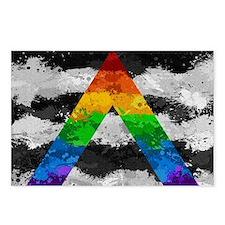 LGBT Ally Paint Splatter Postcards (Package of 8)
