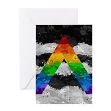 LGBT Ally Paint Splatter Flag Greeting Card