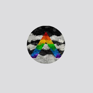 LGBT Ally Paint Splatter Flag Mini Button