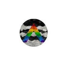 LGBT Ally Paint Splatter Flag Mini Button