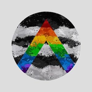 LGBT Ally Paint Splatter Flag Button