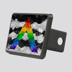 LGBT Ally Paint Splatter F Rectangular Hitch Cover