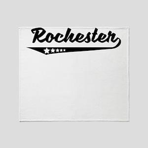 Rochester NY Retro Logo Throw Blanket