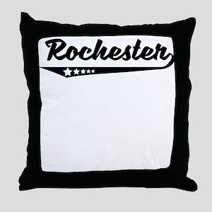 Rochester NY Retro Logo Throw Pillow