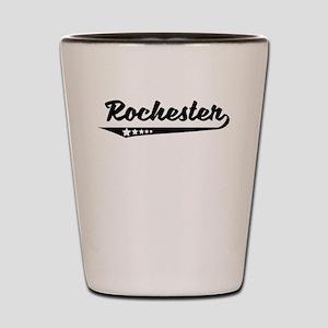 Rochester NY Retro Logo Shot Glass