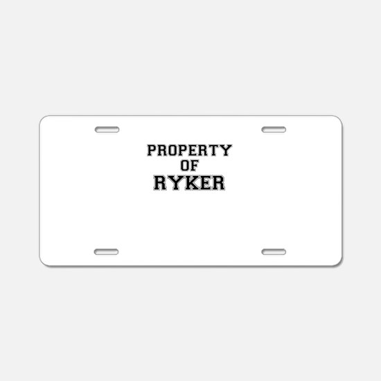 Property of RYKER Aluminum License Plate