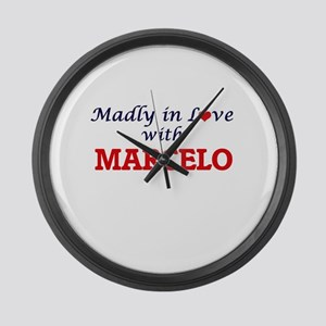 Madly in love with Marcelo Large Wall Clock