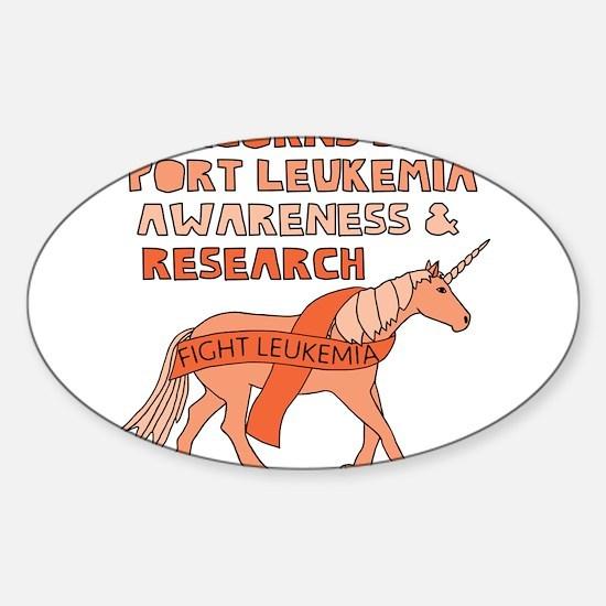 Unicorns Support Leukemia Awareness Decal