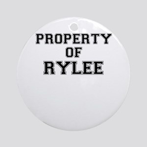 Property of RYLEE Round Ornament