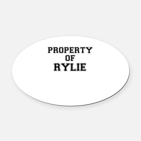 Property of RYLIE Oval Car Magnet