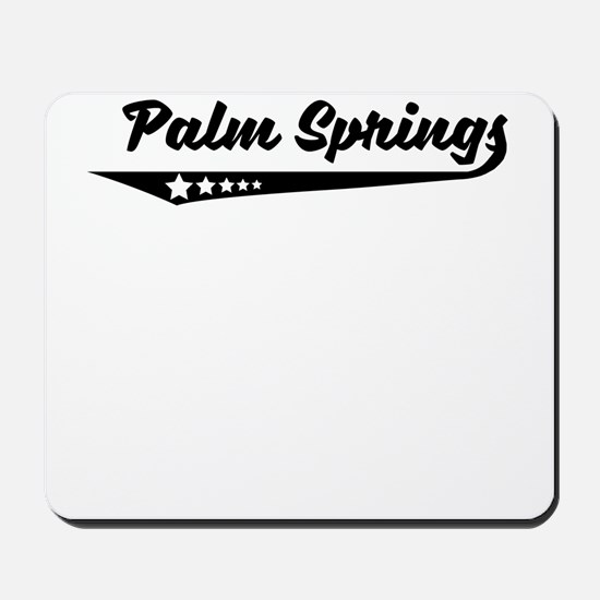 Palm Springs CA Retro Logo Mousepad