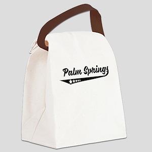 Palm Springs CA Retro Logo Canvas Lunch Bag