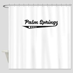 Palm Springs CA Retro Logo Shower Curtain