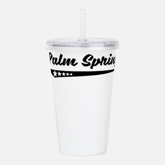 Palm Springs CA Retro Logo Acrylic Double-wall Tum