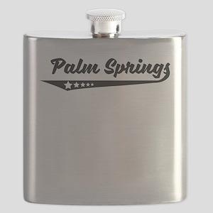 Palm Springs CA Retro Logo Flask
