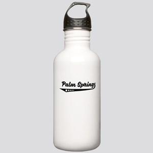 Palm Springs CA Retro Logo Water Bottle